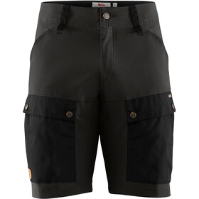 Fjällräven Keb Shorts Heren, black/stone grey